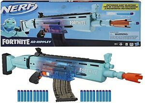 Nerf Fortnite Motorized AR Rippley Blaster Ages 8+ Toy Game Gun Fire Fight Play