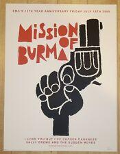 2005 Mission of Burma - Austin Silkscreen Concert Poster s/n by Sleepy Giant