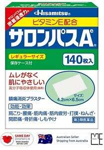 Japan Hisamitsu SALONPAS Ae 140 sheets Pain Relief Patch MADE IN JAPAN AU STOCK