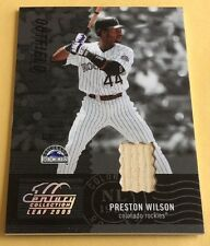 2004 Donruss/Playoff Baseball Preston Wilson Game-Used Bat Card 02/50