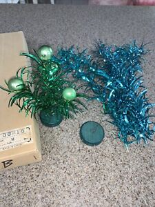 Vintage Japan Metalic Tinsel Christmas Tree Mercury Bulbs Decoration Ornaments