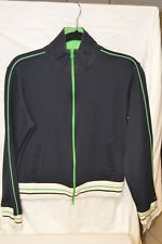 Tommy Hilfiger Tennis Jacket Blue with White & Green Trim Girls Large