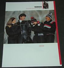 1985/1986 Yamaha Snowmobile Accessories & Apparel Sales Brochure 8 Pages (460)