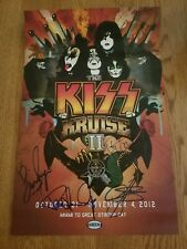 KISS KRUISE II 2 Ltd Ed Autographed Hand Signed Poster Gene Simmons Paul Stanley