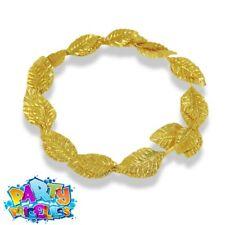 Fancy Dress Roman Julius Caesar Laurel Gold Leaf Crown Headdress-A321