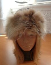 MINT MONTANA LYNX FUR HAT CAP W/ GRAYLEATHER TOP WOMAN WOMEN ALL