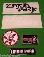 LINKIN PARK 5 PIECE VINTAGE METAL VINYL STICKER SET BUMPER DECAL-NEW!!