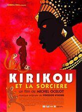 Affiche 120x160cm KIRIKOU ET LA SORCIÈRE (1998) Ocelot - Film d'animation NEUVE