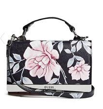 NWT GUESS Dalia Mini Tech Crossbody Phone case Handbag Purse Floral Black
