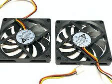 2 Pieces 8010 Gdstime 12V 3pin 80x80x10mm 8cm DC Cooling Fan large brushless A47