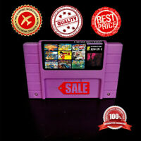 Super 120 in 1 for Nintendo SNES Multi Cart Game Cartridge Battery Save NTSC US