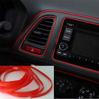 5M Car Moulding Door Edge Trim Strip Line Grille Interior Exterior Red Line Deco