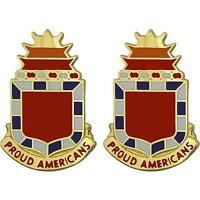 USA Army Unit Crests 32nd FA Field Artillery   PAIR      NEW   (Made in USA)
