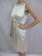 Little Joe Size S or 8 Ivory Silk Eyelet Mini Dress