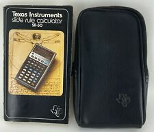 Vtg Texas Instruments Sr-50 Slide Rule Calculator 1974 Manual & Case Only