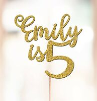 Personalised 5th Birthday Cake Topper Decorations ANY NAME AGE 3rd 4th 7th P1418