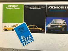 LOT OF BROCHURE PRODUCT FLYER 1960's 70's 80's VW Volkswagen Vanagon GTI Rabbit