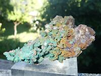 - Minerali Grezzi Cristalloterapia - RAME nativo con MALACHITE (50) marocco