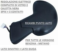 FIAT MULTIPLA 11-1998//03-2010 Piastra specchio specchietto superiore Sinistra