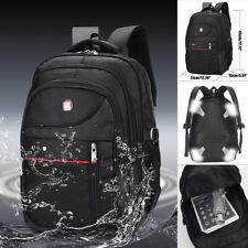 Men Nylon Backpack Waterproof Laptop School Bag Satchel Travel Handbag Rucksack