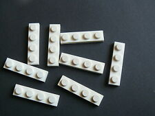 Lego 8 plates blanches set 40227 41570 31049   / 8 white plates 1 x 4