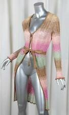 M MISSONI Womens Cotton Blend Multicolor Striped Long Cardigan Sweater 40/4