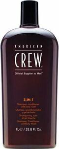 American Crew 3-in-1 Shampoo, Conditioner and Body Wash 33.8oz NEW!