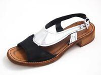 Prada Sandals Black Silver Leather Womens Size US 7 EU 37 $620