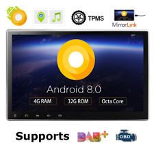 "HD 10.1"" Android 8.0 Double 2 Din Car Stereo 8 Core 4GB RAM Head unit DVD CD DAB"