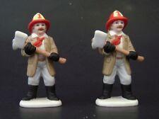 2 Lefton Colonial Village Fireman / Firemen 1989 Bud Michaels #07331