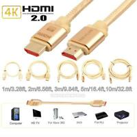 3m/5m/10m Ultra High Speed HDMI V2.0 2160P 4K Aluminum Shell Gold-Plated Cable