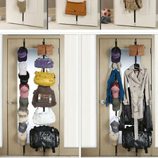 2 Over Door Hanging Purse Clothes Cap Hat Storage Closet Organizer Hanger Straps