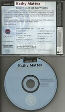 KATHY MATTEA Advnce PROMO CD w/ ROLLING STONES Creedence Clearwater Revival Trx