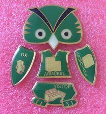 Pins CHOUETTE HIBOU VERT Owl Eule Buho Puzzle De 5 Pin's DX ARMURIAL VISTOP