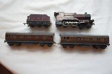 Antique Trix Twin TTR Locomotive 1168, Coal Car, 2 Passenger Cars, Instructions