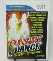 COUNTRY DANCE GAME FOR NINTENDO Wii, COMPLETE GAME DISC, CASE, MANUAL, 25+ HITS