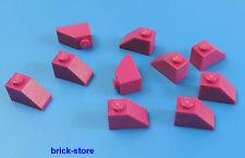 LEGO 1x2 Dachstein Fucsia / Rosa / 10-pc