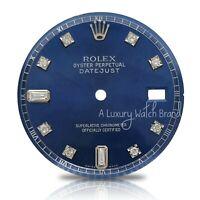 For Rolex Datejust SS 36mm 1601 1603 Blue 8+2 Diamond Dial - Non-Quickset