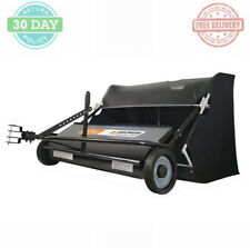 Outdoor Lawn Sweeper Patented Spiral Brush Heavy-duty Collector Bag Hitch Pin