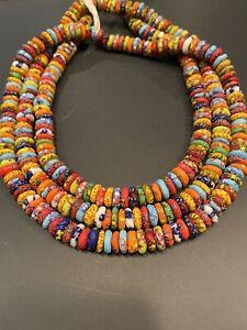 Multicoured Krobo Beads Ethnic Trade Beads Spacer