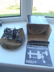 Vintage ABU Ambassadeur 9000C with box & manual