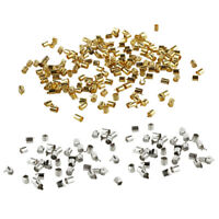 Mix Silver/Gold Plated Tube Crimp Beads for Jewelry Making(About 1000pcs) D3X4