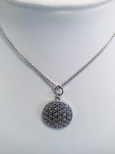 Auranto Damen Kette Blume des Lebens Mandala Sterling Silber Zirkonia