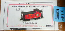 American Model Builders #550 Great Northern (25' Wood Cupola Caboose Kit)