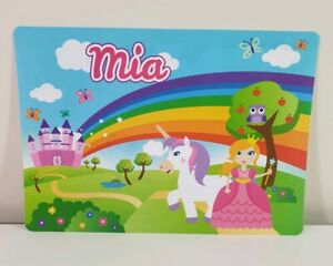 MIA - Girls Name Personalized Childs Placemat. Craft Mat. ('MIA' print only)