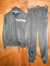 survêtement jogging KAPPA noir/bleu taille 14 ans - neuf