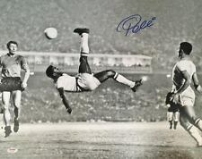 Pele Rare Signed 16 x 20 Vintage Soccer Photo, Psa/Dna Coa!