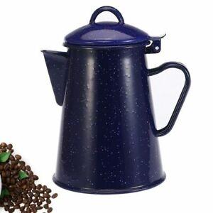 Starry Sky Blue Coffee Pots 1200/1800ml Enamel Hand Tea Water Kettle Home Decors