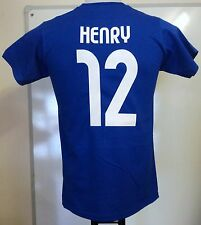 02a2b9456 FRANCE RETRO HENRY NUMBER 12 FOOTBALL TEE SHIRT SIZE MEN S XL BRAND NEW