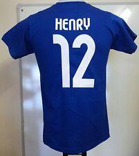 FRANCE RETRO HENRY 12 FOOTBALL TEE SHIRT ADULTS SIZE MEDIUM BRAND NEW